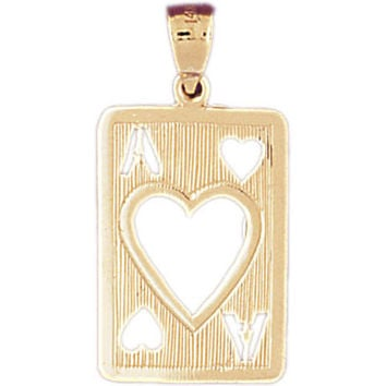14K GOLD GAMBLING CHARM - PLAYING CARD #5474