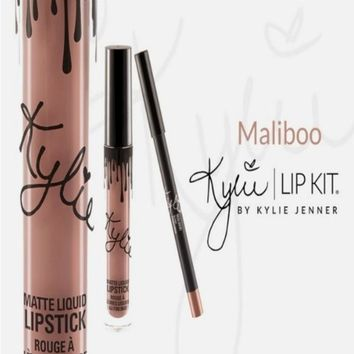 2Pcs Kylie Lip Kit MALIBO Liquid Lipstick Jenner