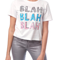 Blah Blah Blah Jersey Top - White