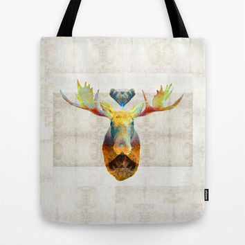 Mystic Moose Art by Sharon Cummings Tote Bag by Sharon Cummings