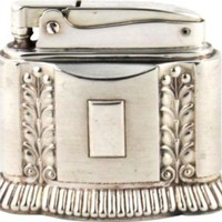 Silverplate Ronson Table Lighter - One Kings Lane - Vintage & Market Finds - Decorative Accessories
