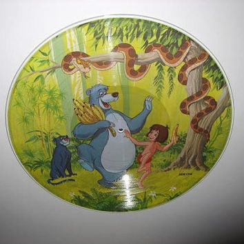 Disney Picture Disc The Jungle Book Original Soundtrack Vinyl Record Album LP 1981 Children's Classics