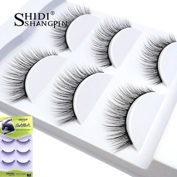 3 Pairs Natural Long Wispy Eyelashes False Cotton Stalk Winged Beauty for Makeup 3D Mink Fake Eye Lashes Professional Extension
