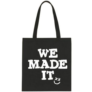 "Louis Tomlinson ""We Made It / Smile Logo"" Tote Bag"