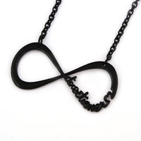 SALE black necklace infinity necklace infinity sign necklace directioner necklace