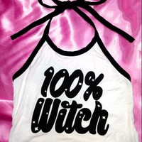 SWEET LORD O'MIGHTY! TOTAL WITCH HALTER IN WHITE