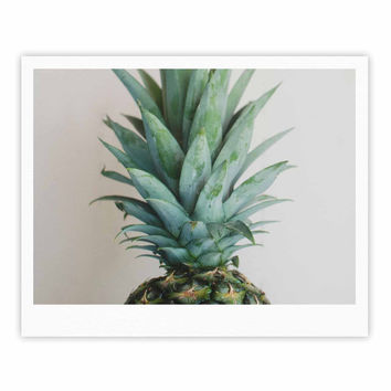 "Chelsea Victoria "" The Pineapple"" Green Gold Fine Art Gallery Print"