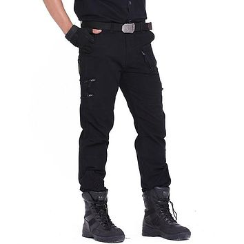 Tactical Pants Army Male Camo Jogger Plus Size Cotton Trousers