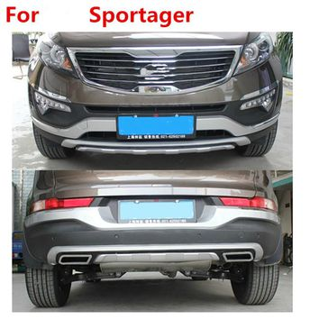 for 2011 2012 2013 2014 2015 KIA Sportager High quality plastic ABS Chrome Front+Rear bumper cover trim ,