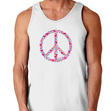 Peace Sign Hearts Loose Tank Top