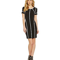 Vince Camuto Knit Jersey Sweater Dress - Rich Black