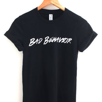 Bad Behavior Logo Black Graphic Unisex Tee