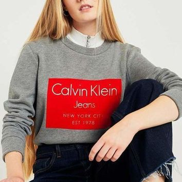 CREYCY2 Calvin Klein women Crew Neck Sweatshirt with Flocked
