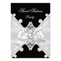 Sweet 16 Sixteen Black Silver Diamond Birthday