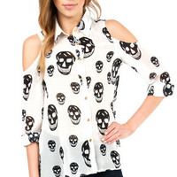 Too Cool for Skull Blouse $36