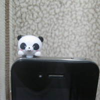 Cute Panda Dust Plug 3.5mm Cell Phone Plug/ iPhone 4 4S 5 5S Dust Plug/ Samsung Charm Headphone Jack Ear Cap