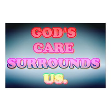 God's Care Surrounds Us. Photo Print