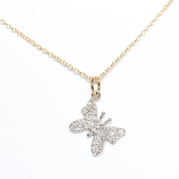 Large New Life Butterfly Necklace - SALE