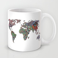 Flags - World Map Mug by Turn North Press