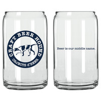 Craft Beer Hound Beer Can Pint Glass