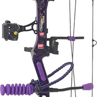 2015 PSE Stiletto, Deep Purple Target Finish Compound Bow Package - Hunter's Friend