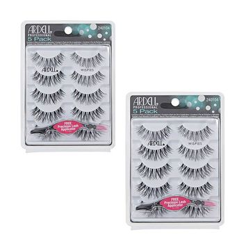 Ardell Wispies Lashes with Free Applicator - 2 Packs of 5 Pairs