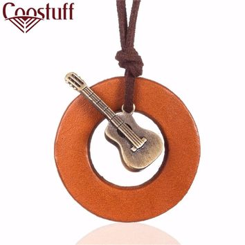 2017 love men statement necklace music guitar pendant fashion vintage choker necklaces & pendants for women jewelry