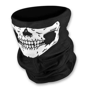 Skull Motorcycle Tube Scarf Headwear Skull Face Shield Outdoor Magic Seamless Bandana Multifunctional Headwear