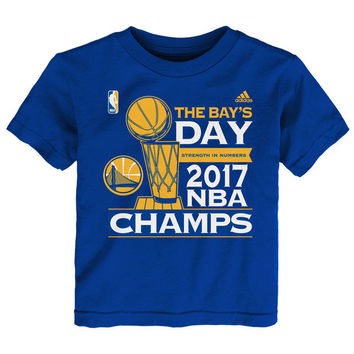 Toddler Golden State Warriors adidas Royal 2017 NBA Finals Champions Parade T-Shirt