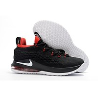 Nike LeBron 15 Low Red Black White Basketball Shoes