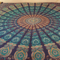 Indian Mandala Hippie Bohemian Wall Hanging Tapestry Throw