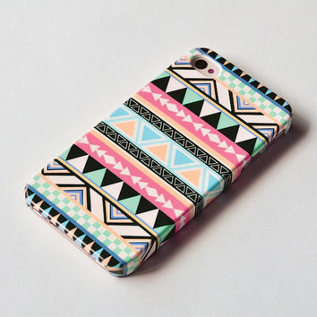 Pastel Aztec Geometric iPhone 4s case , iPhone 4 case ,geometric iphone 4s cover , iPhone 4 Hard Case