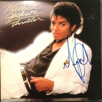 "Michael Jackson Signed Autographed ""Thriller"" Record Album (PSA/DNA COA)"
