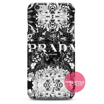 Prada Milano Fashion Flower iPhone Case 3, 4, 5, 6 Cover
