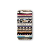 Iphone 5/5s Case, Tiger Aztec Geometric on Wood Pattern 3d-sublimated, Mobile Accessories.
