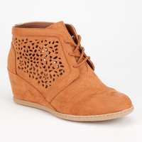 Qupid Race Womens Booties Rust  In Sizes