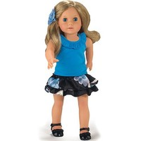 18 Inch Doll Clothing/Clothes Set of Ruffle Tank & Elastic Waist Satin Skirt Fits American Girl Dolls, Set of Tank & Skirt