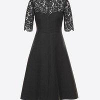 Valentino Crepe Couture And Heavy Lace Dress, Dresses for Women - Valentino Online Boutique