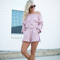 City Chic Athleisure Set - Dusty Pink