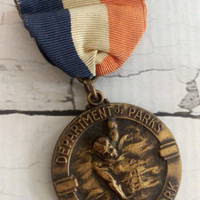 Antique Medal/ Vintage Medal/ New York Antique/ NYC Parks Department/ Medal Pin/ Vintage New York/ New York Collectible/ Antique Trophy