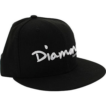 "Diamond Supply Co. OG Script Black / White 7 1/8"" Hat New Era"