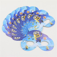 1bag 12pcs Minions Mask Halloween Party Supplies Kids Happy Birthday Decoration Christmas Event Supplies Party Favor Randomly