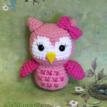 Baby Owl Amigurumi Toy (Crochet Pattern, Digital Download) Baby Gifts, Nursery Gift, Plush Doll