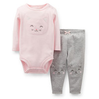 2-Piece Appliqué Bodysuit & Pant Set