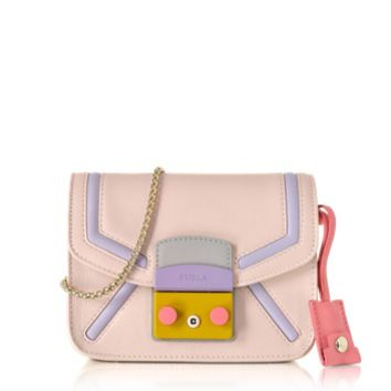 Furla Designer Handbags Metropolis Magnolia Leather Mini Crossbody Bag