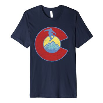 Retro Colorado Snowboarding Rocky Mountains T-Shirt