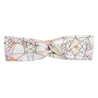 Kardashian Kids Girls Multicolored Abstract Print Twisted Headwrap