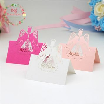 40 Piece Angel Laser Cut Table Name Place Cards