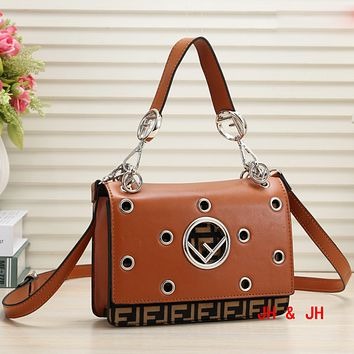 Fendi New Women Fashion Hole Hollow More Letter Personality Shoulder Bag Crossbody Bag