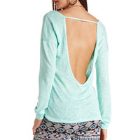 LONG SHEER BACKLESS SWEATSHIRT
